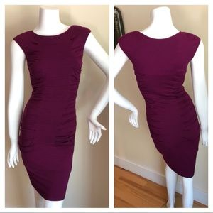Betsey Johnson purple ruched dress